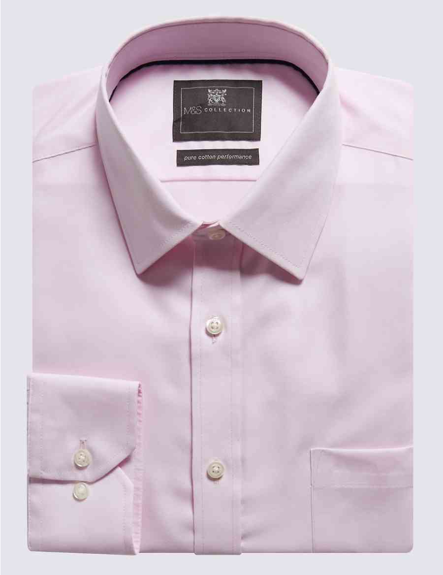 Pure Cotton Non Iron Regular Fit Shirt Ms Collection Ms
