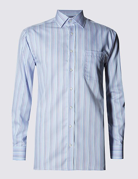 Performance Pure Cotton Non-Iron Striped Shirt