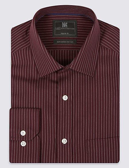 Pure Cotton Non-Iron Shirt with Pocket