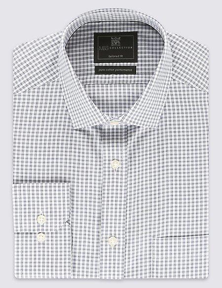 Performance Pure Cotton Non-Iron Checked Shirt