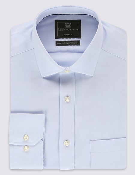 Performance Pure Cotton Non-Iron Tailored Fit Shirt