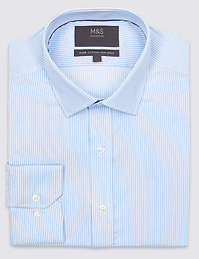 Pure Cotton Non-Iron Slim Fit Shirt