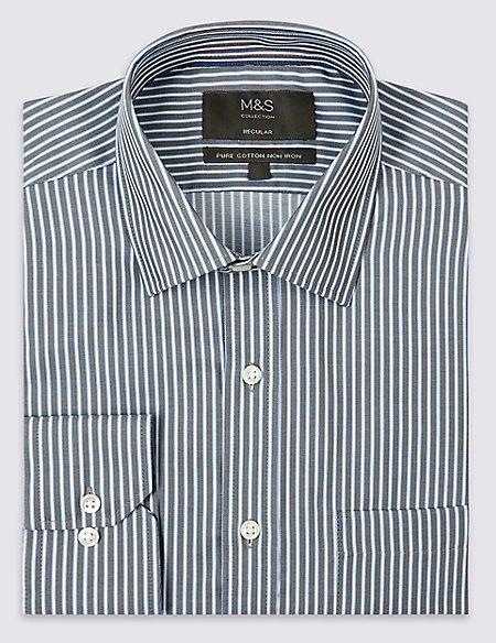 2in Longer Non-Iron Regular Fit Shirt