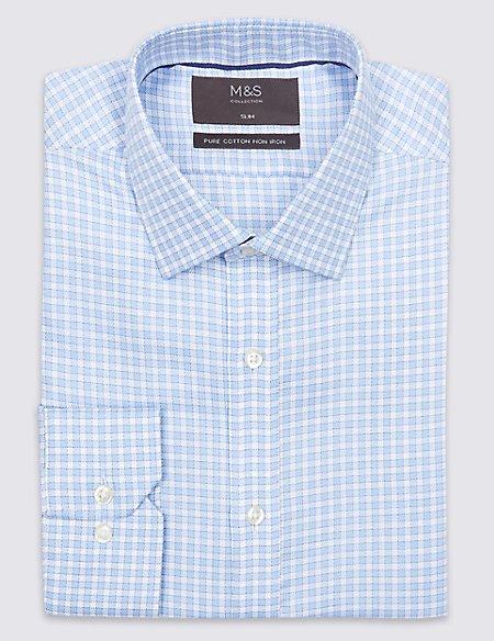 Pure Cotton Non-Iron Slim Fit Shirt