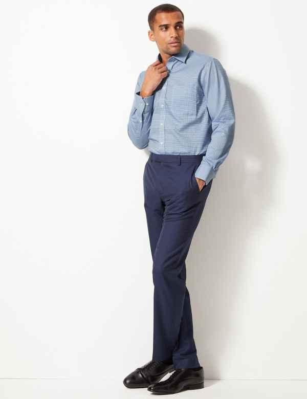 Pure Cotton Regular Fit Non Iron Twill Shirt