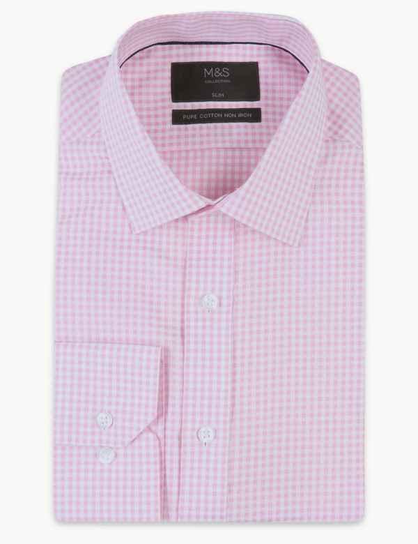 1ae0fa48a67 2in Longer Pure Cotton Non-Iron Slim Fit Shirt