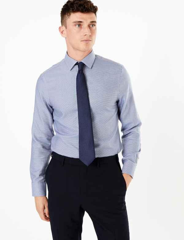 0957ac9ac082 Mens Non Iron Shirts   Performance Shirts For Men   M&S