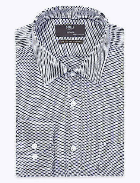 Shorter Length Regular Fit Non-Iron Shirt