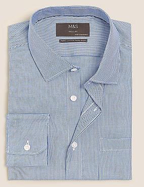 Camisa de ajuste estándar sin planchado 100% algodón
