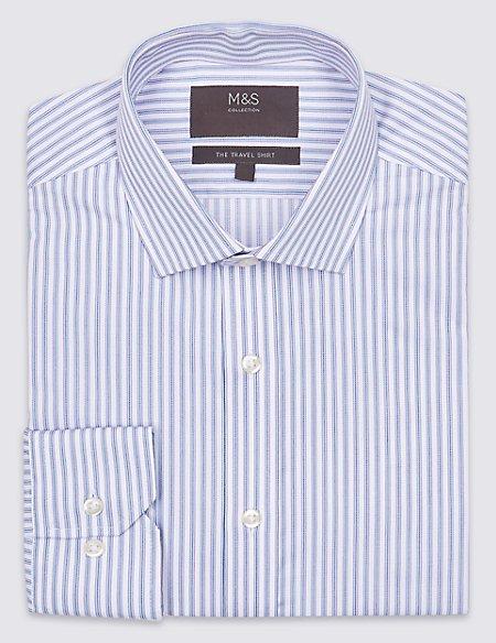 Cotton Blend Non-Iron Regular Fit Shirt