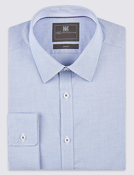 Pure Cotton Tailored Fit Shirt with Stretch