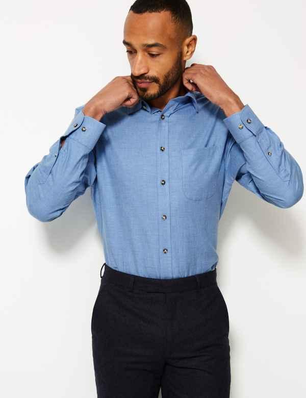 Pure Cotton Twill Regular Fit Shirt
