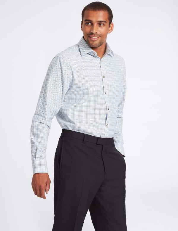 922fef2e8d6 Pure Cotton Twill Regular Fit Shirt