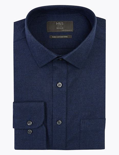 Cotton Twill Regular Fit Shirt
