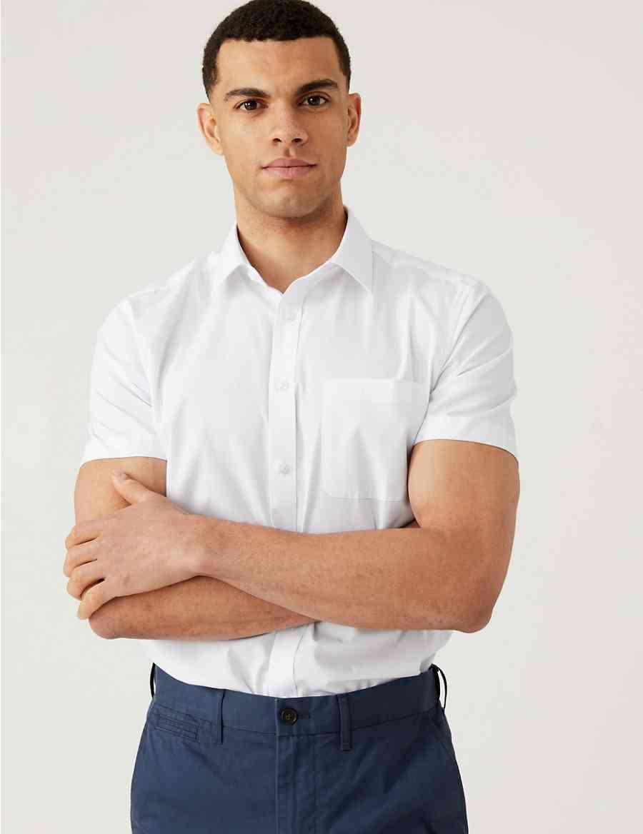 3 Pack Short Sleeve Slim Fit Shirts