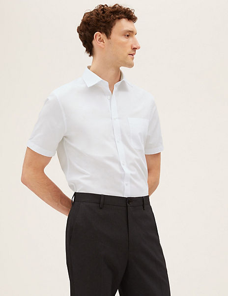 3 Pack Short Sleeve Tailored Fit Shirts