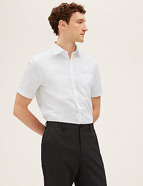 3 Pack Short Sleeve Tailored Fit Shirt