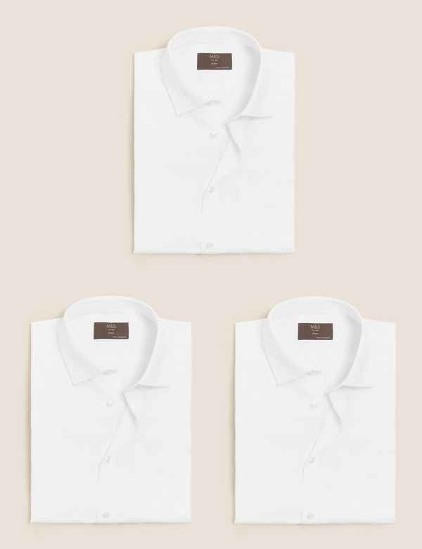 1a483a6c0e30 3 Pack Short Sleeve Skinny Fit Shirts