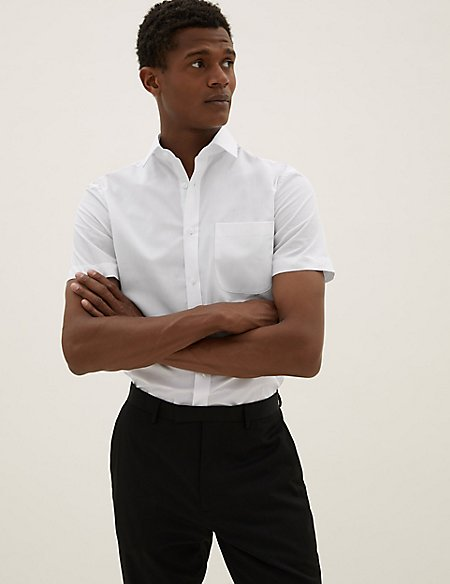 3 Pack Short Sleeve Modern Slim Fit Shirts