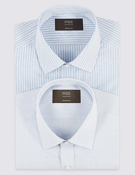 2 Pack Short Sleeve Regular Fit Shirts