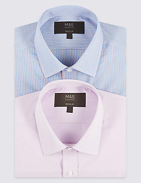 2 Pack Short Sleeve Regular Fit Shirts