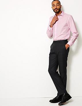 Cotton Blend Regular Fit Shirt , PINK, catlanding