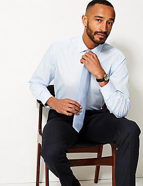 Cotton Blend Regular Fit Shirt , SKY BLUE, catlanding