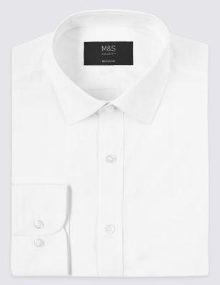 Cotton Blend Regular Fit Shirt by Marks & Spencer