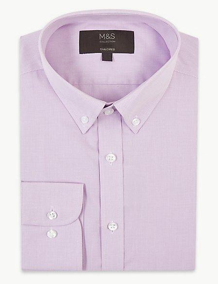 Cotton Blend Tailored Fit Shirt