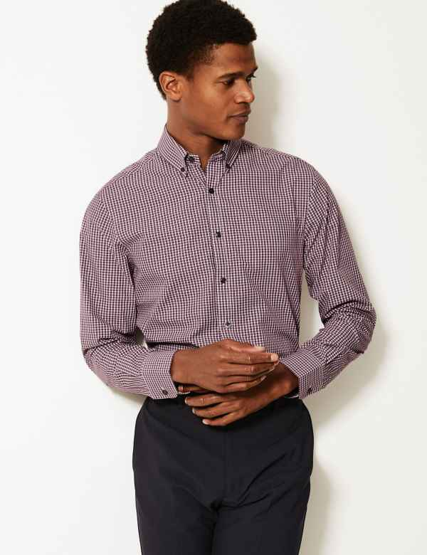 ec6111071bc Mens Shirts | Check & Denim, Short & Long Sleeve Shirts | M&S