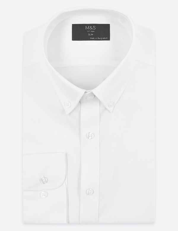 5aa66c6e Slim Fit Textured Easy to Iron Shirt