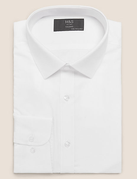 Tailored Fit Textured Easy Iron Shirt