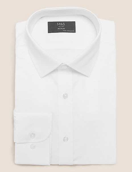 Regular Fit Textured Easy Iron Shirt