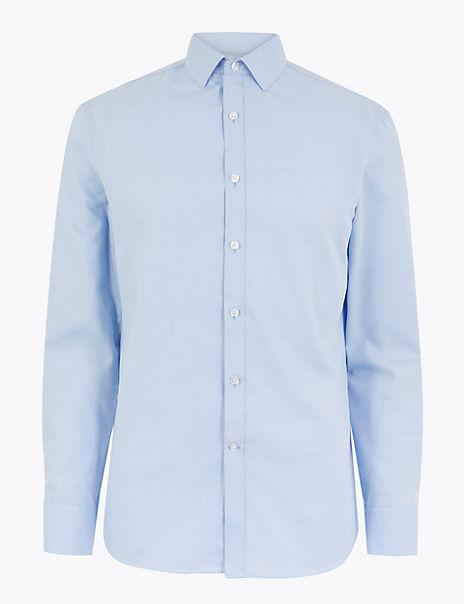 Skinny Fit Easy Iron Shirt
