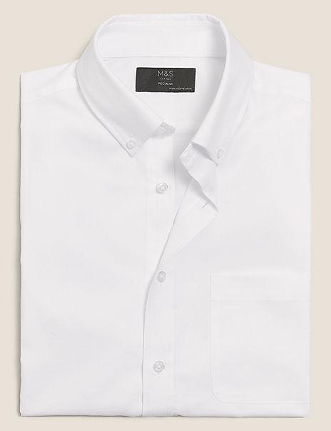 Regular Fit Cotton Blend Easy Iron Shirt
