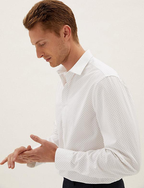 Regular Fit Pure Cotton Geo Print Shirt