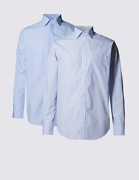 2 Pack Easy to Iron Regular Fit Shirts