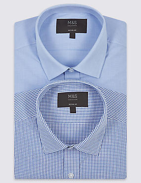 2 Pack Easy to Iron Regular Fit Shirt