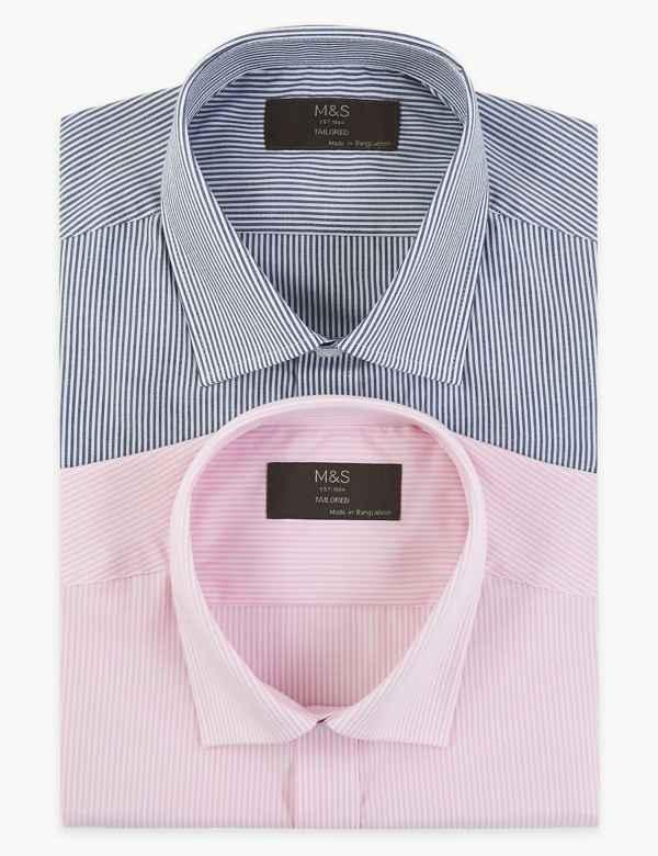 e08f85b4df Mens Shirts | Check & Denim, Short & Long Sleeve Shirts | M&S