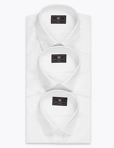 3 Pack Cotton Blend Shirts