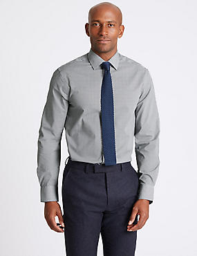 3 Pack Cotton Blend Slim Fit Shirts, NAVY MIX, catlanding