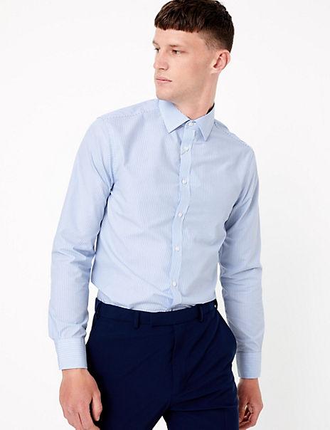 3 Pack Cotton Blend Slim Fit Shirt