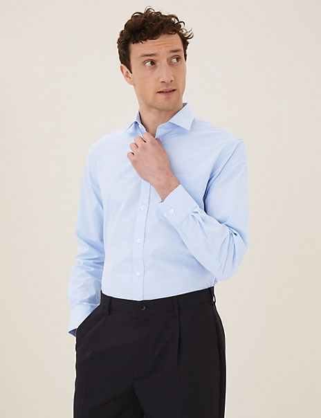 3 Pack Tailored Fit Easy Iron Shirts