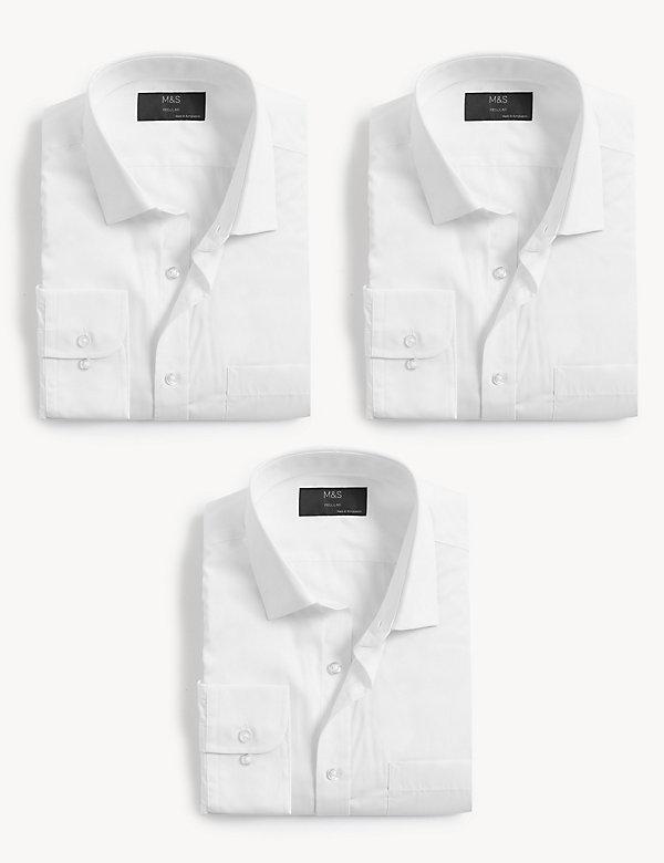 Pack de 3 camisas de manga larga de ajuste estándar