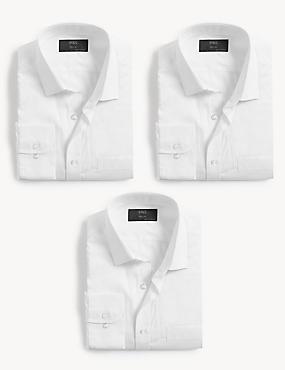 3 Pack Regular Fit Long Sleeve Shirts