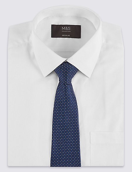 Regular Fit Shirt with Tie