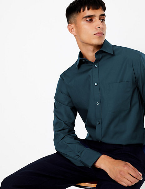 5 Pack Tailored Fit Easy Iron Shirts