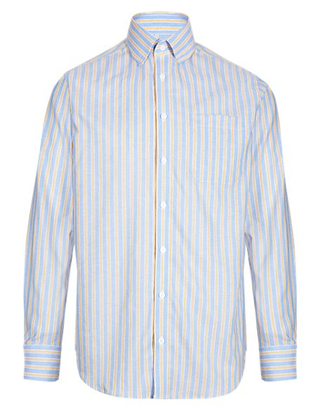 Cavalli Striped Shirt with Linen