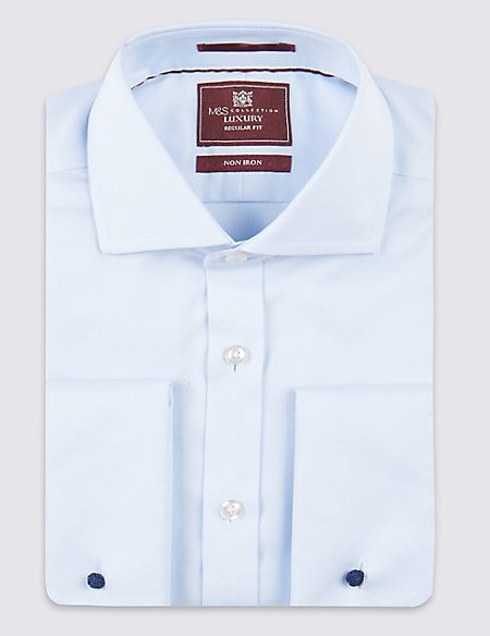 2in Longer Pure Cotton Regular Fit Shirt