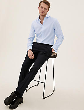Pure Cotton Tailored Fit Shirt, SKY BLUE, catlanding